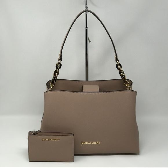 4f614178fedf93 Michael Kors Bags | Sofia Fawn Lg Satchel Wallet Nwt | Poshmark